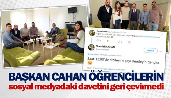 Başkan Cahan öğrencilerin sosyal medyadaki davetini geri çevirmedi
