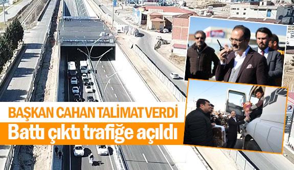 Başkan Cahan talimat verdi! Battı çıktı trafiğe açıldı!