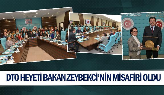 DTO heyeti Bakan Zeybekci'nin misafiri oldu
