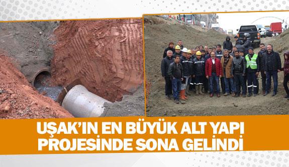 Uşak'ın en büyük alt yapı projesinde sona gelindi