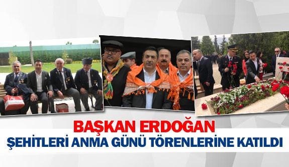 Başkan Erdoğan şehitleri anma günü törenlerine katıldı