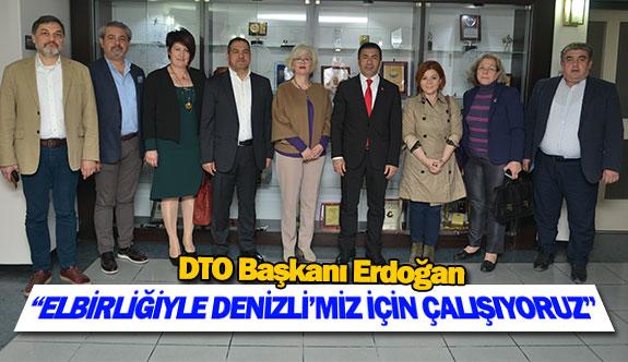 """DTO Başkanı Erdoğan: """"Elbirliğiyle Denizli'miz için çalışıyoruz"""""""
