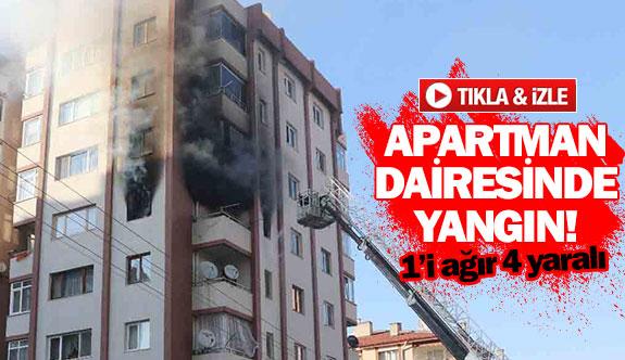 Apartman dairesinde yangın!