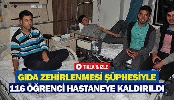Gıda zehirlenmesi şüphesiyle 116 öğrenci hastaneye kaldırıldı