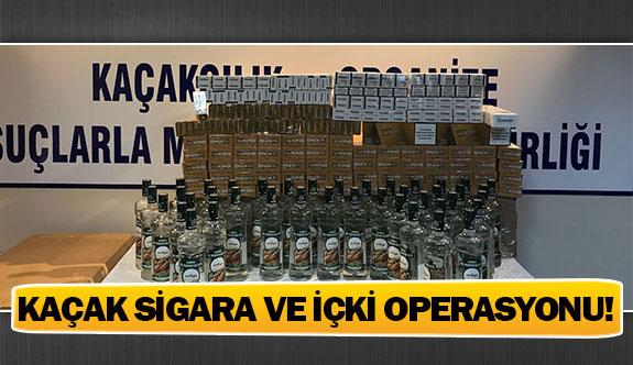 Kaçak sigara ve içki operasyonu!