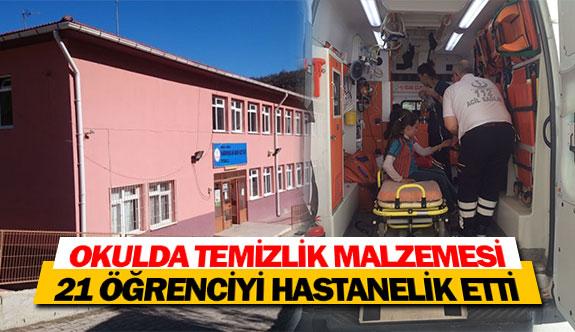 Okulda temizlik malzemesi 21 öğrenciyi hastanelik etti