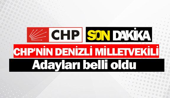 CHP'nin Denizli Milletvekili adayları belli oldu