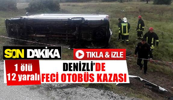 Denizli'de feci otobüs kazası