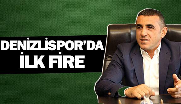Denizlispor'da ilk fire