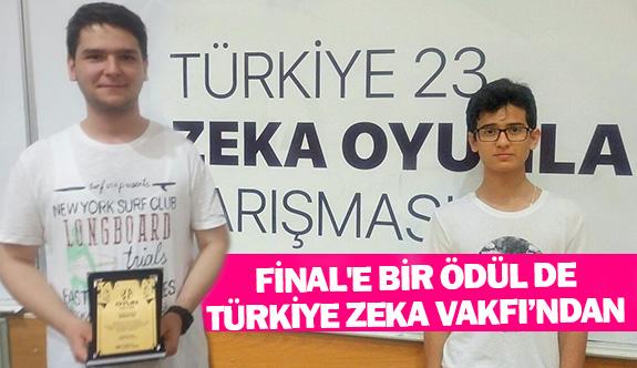 Final'e bir ödül de Türkiye Zeka Vakfı'ndan