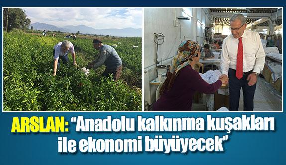 Arslan: ''Anadolu kalkınma kuşakları ile ekonomi büyüyecek''