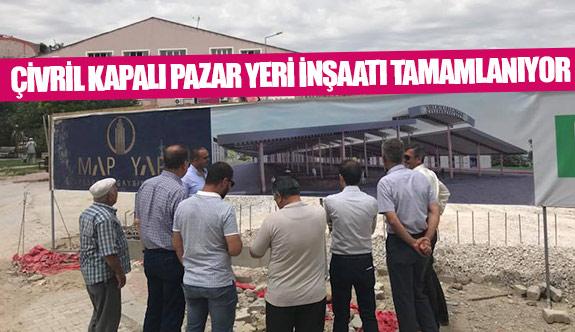 Çivril kapalı pazar yeri inşaatı tamamlanıyor