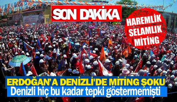 Cumhurbaşkanı Erdoğan'a Denizli'de miting şoku
