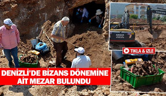 Denizli'de Bizans dönemine ait mezar bulundu