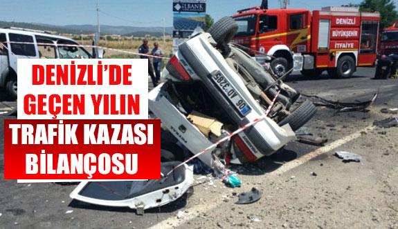 Denizli'de geçen yılın trafik kazası bilançosu