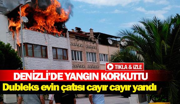 Denizli'de yangın korkuttu