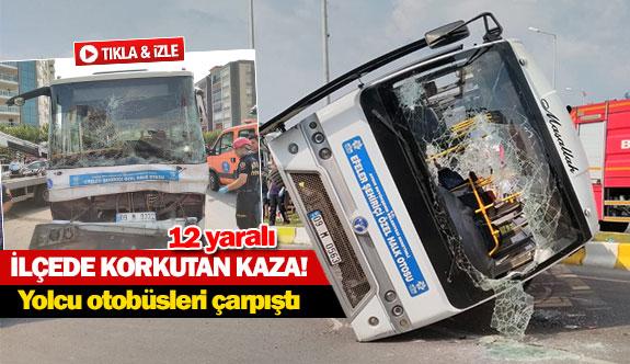 Yolcu otobüsleri çarpıştı