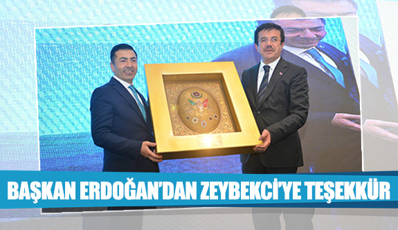 Başkan Erdoğan'dan Zeybekci'ye teşekkür