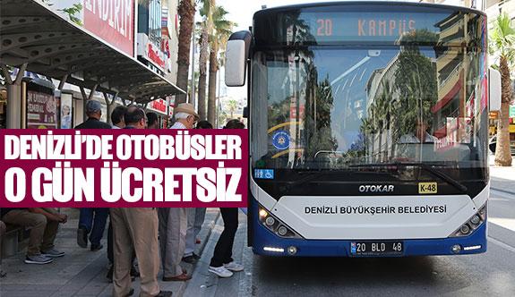 Denizli'de otobüsler o gün ücretsiz