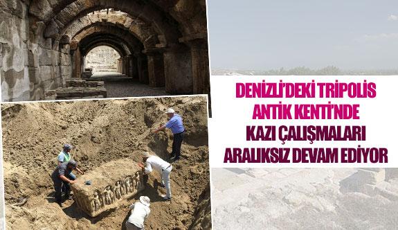 Denizli'deki Tripolis Antik Kenti'nde kazı çalışmaları aralıksız devam ediyor