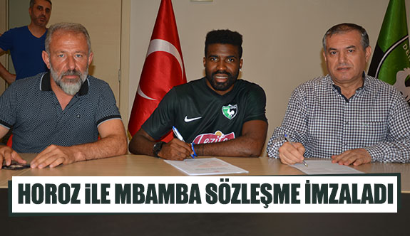 Horoz ile Mbamba sözleşme imzaladı