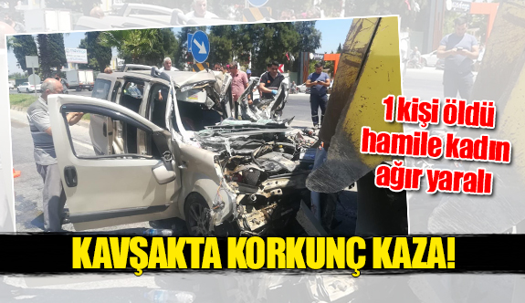 Kavşakta korkunç kaza!