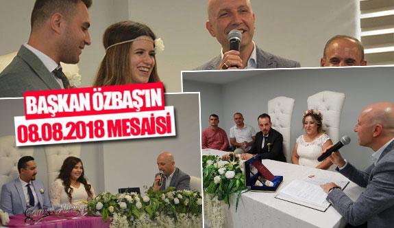 Başkan Özbaş'ın 08.08.2018 mesaisi
