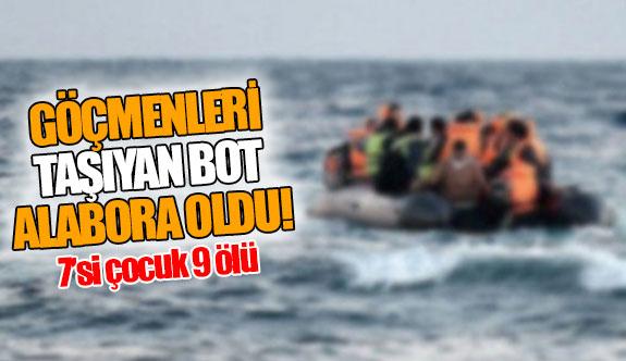 Göçmenleri taşıyan bot alabora oldu!