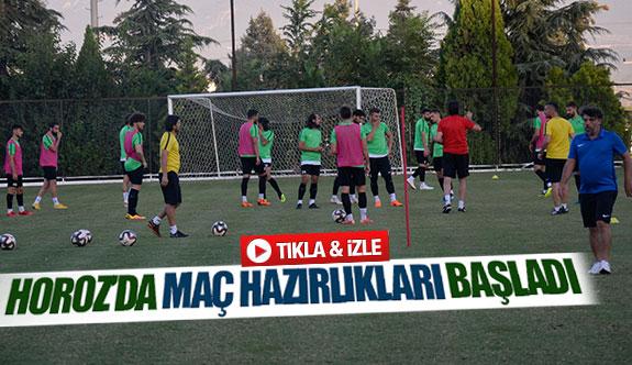 Horoz'da maç hazırlıkları başladı