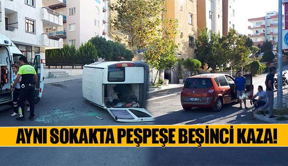 Aynı sokakta peşpeşe beşinci kaza!