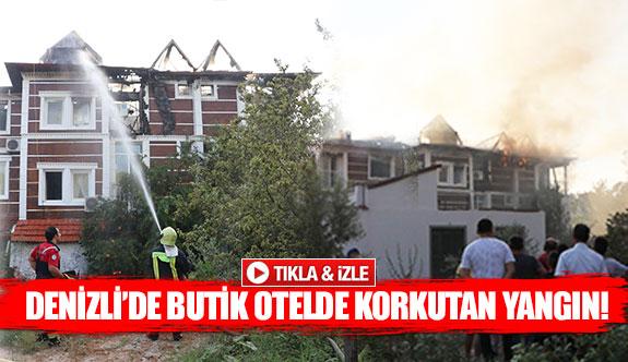 Denizli'de butik otelde korkutan yangın!