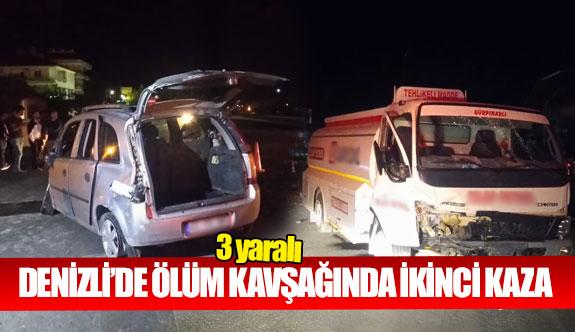Denizli'de ölüm kavşağında ikinci kaza