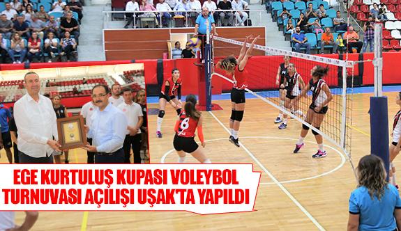 Ege Kurtuluş Kupası Voleybol Turnuvası açılışı Uşak'ta yapıldı