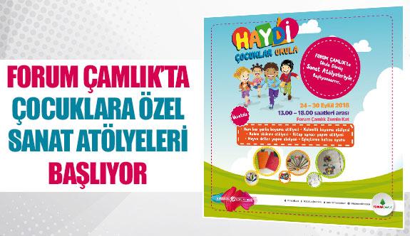 Forum Çamlık'ta çocuklara özel sanat atölyeleri başlıyor