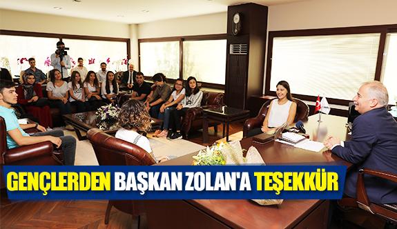 Gençlerden Başkan Zolan'a teşekkür