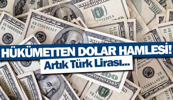 Hükümetten dolar hamlesi!