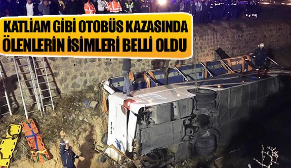 Katliam gibi otobüs kazasında ölenlerin isimleri belli oldu