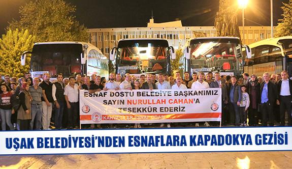 Uşak Belediyesi'nden esnaflara Kapadokya gezisi