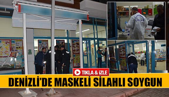 Denizli'de maskeli silahlı soygun!