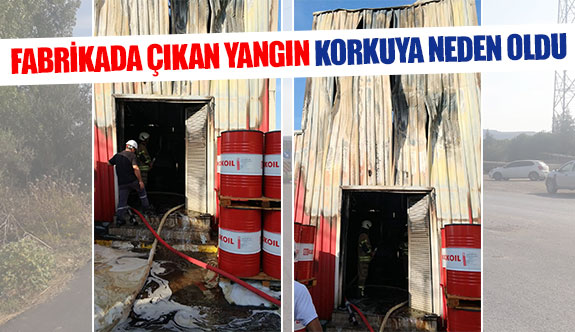 Fabrikada çıkan yangın korkuya neden oldu