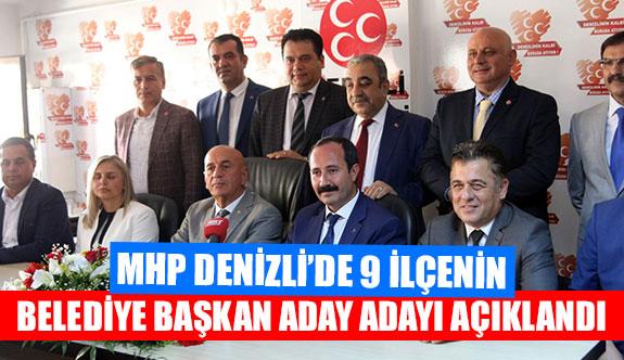 MHP Denizli'de 9 ilçenin belediye başkan aday adayı açıklandı