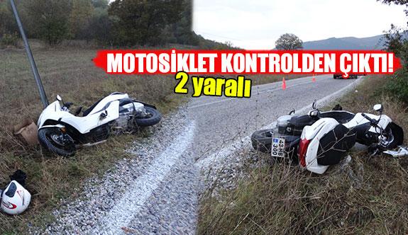 Motosiklet kontrolden çıktı!