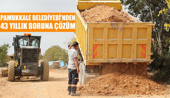 Pamukkale Belediyesi'nden 43 yıllık soruna çözüm