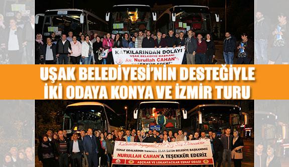 Uşak Belediyesi'nin desteğiyle iki odaya Konya ve İzmir turu
