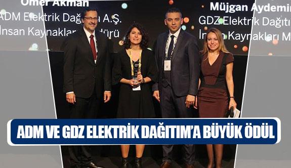 ADM ve GDZ Elektrik Dağıtım'a büyük ödül