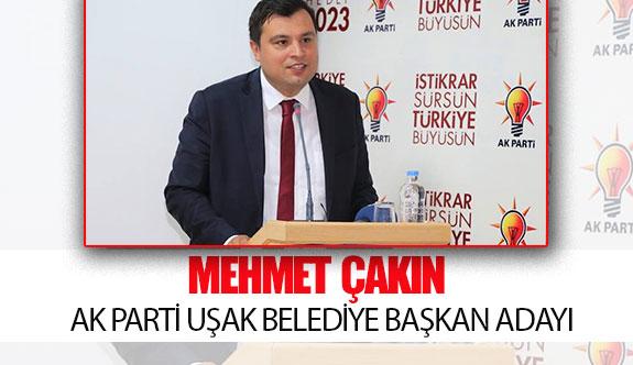 Ak Parti Uşak belediye başkan adayı Mehmet Çakın