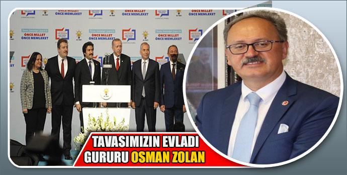 Başkan Akyol Tavasımızın evladı gururu Osman Zolan