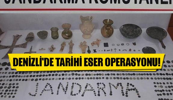 Denizli'de tarihi eser operasyonu
