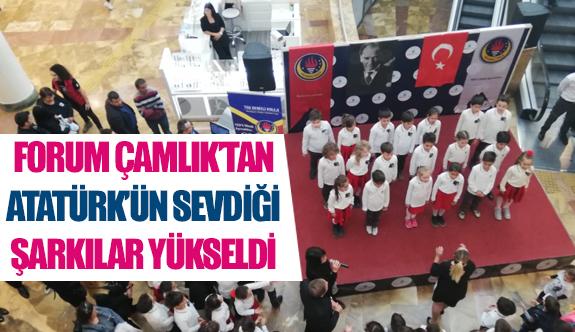 Forum Çamlık'tan Atatürk'ün sevdiği şarkılar yükseldi