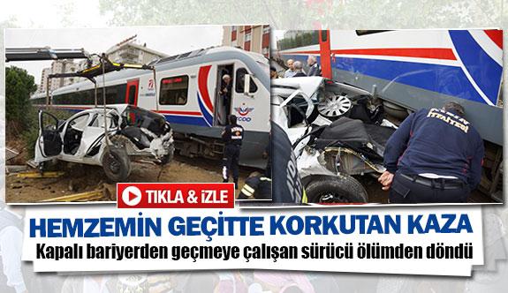 Hemzemin geçitte korkunç kaza
